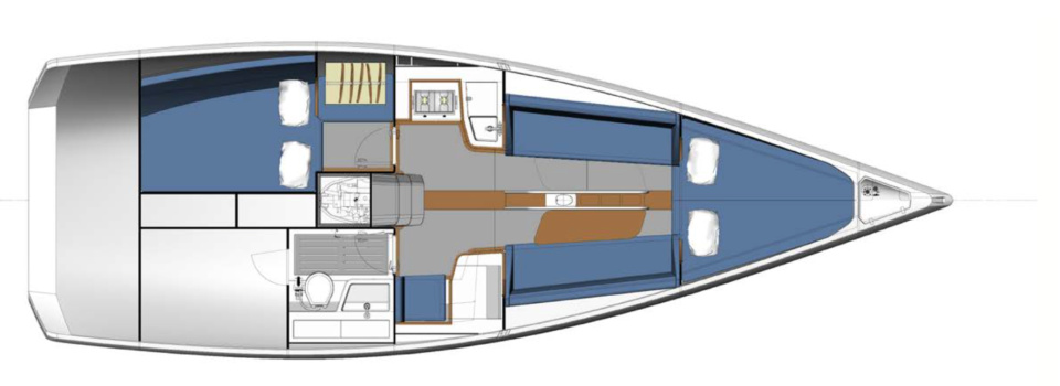 Italia Yachts 9.98 layout